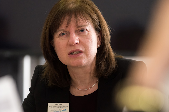 Sally Flint, Executive Director of Finance and Performance